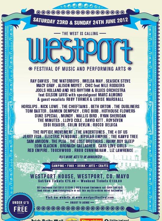 westport line up 2012